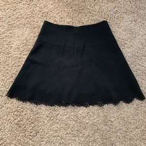 LOFT professional black skirt with floral detail